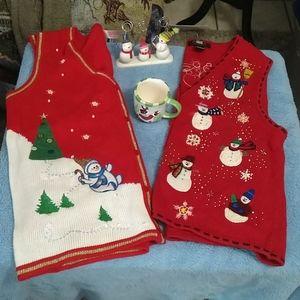 Christmas snowman set, sz Medium
